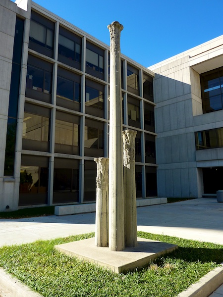 Untitled sculpture at MSU Temple Hall by Jerry Hatch