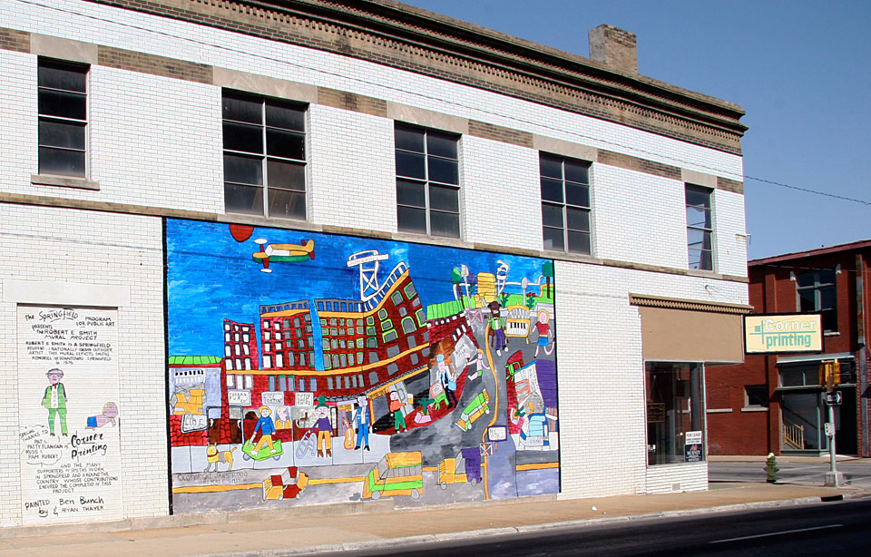 Downtown Mural by Robert E. Smith