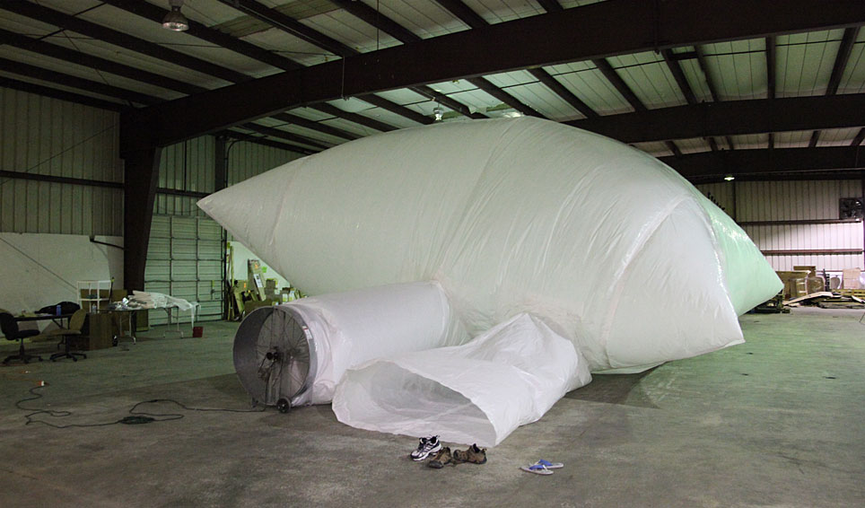 Video of Inflatable Art test by Art of Space