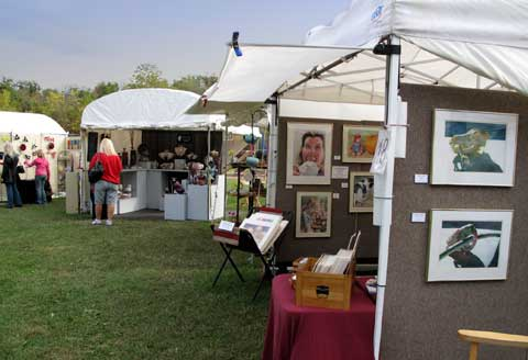 Art in Sequiota Park on Oct. 13-14