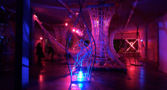 Russ RuBert LED sculpture and Art of Space